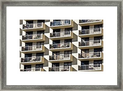 Multiple Balconies Framed Print by Roevin