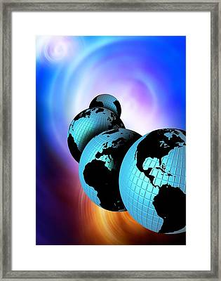 Multiple Dimensions, Conceptual Artwork Framed Print by Victor Habbick Visions
