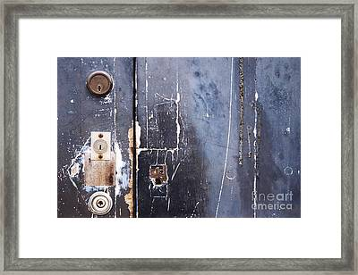 Framed Print featuring the photograph Multiple Locks by Agnieszka Kubica