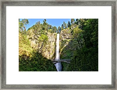 Framed Print featuring the photograph Multnohma Falls Oregon by Rob Green
