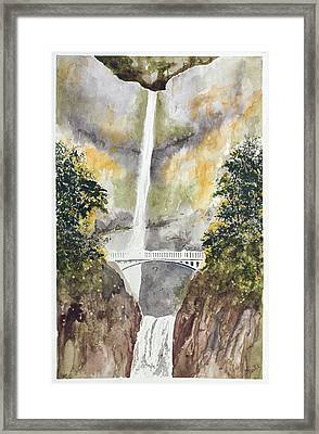 Multnomah Falls Framed Print by Jean Moule