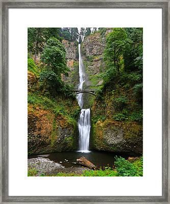 Multnomah Falls Oregon Framed Print by Sam Amato