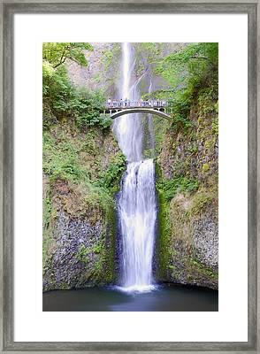 Multnomah Falls Framed Print by Vicki Jauron