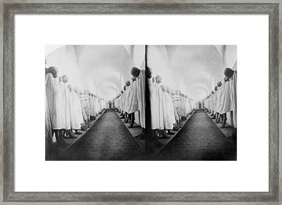 Mummies In Guanajuato, Mexico, Stereo Framed Print