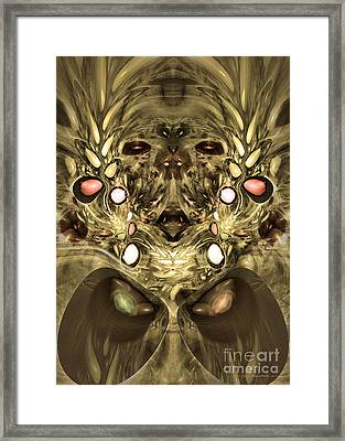 Mummy - Abstract Digital Art Framed Print by Sipo Liimatainen