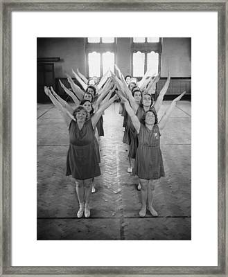 Mums Keep Fit Framed Print by Nick Yapp