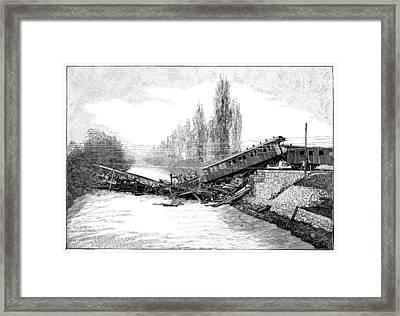 Munchenstein Rail Disaster, 1891 Framed Print by