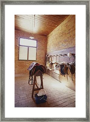 Mundiwa Station Tack Room Framed Print by Jason Edwards