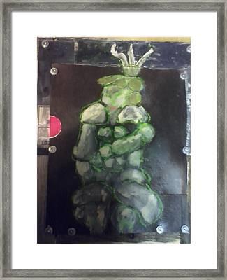 Munhattan Figurine Framed Print by Christine Randolph
