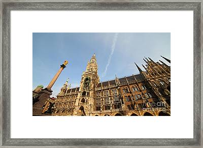 Munich City Hall Framed Print by Holger Ostwald