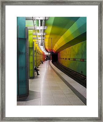 Munich Subway No.2 Framed Print by Wyn Blight-Clark