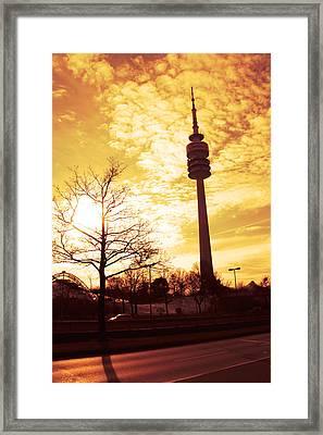 Munich Television Tower Framed Print by Falko Follert