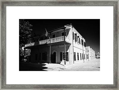 Municipal Cultural Centre And City Museum And Archives In The Restored Old Colonial Port Larnaca  Framed Print by Joe Fox