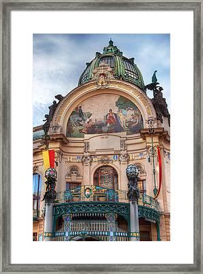 Municipal House-prague Framed Print by John Galbo
