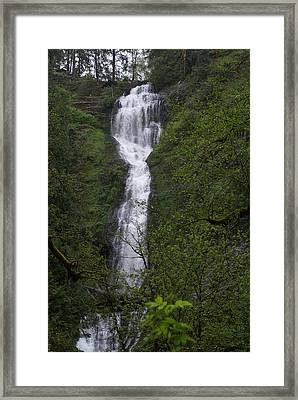 Framed Print featuring the photograph Munson Falls by Jerry Cahill