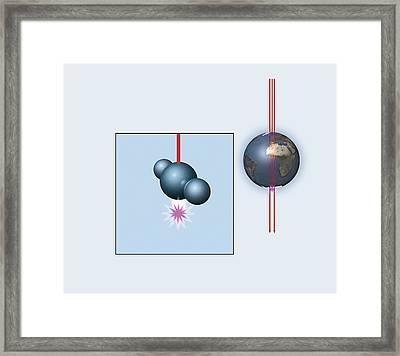 Muon And Neutrino Detector, Artwork Framed Print by Mikkel Juul Jensen