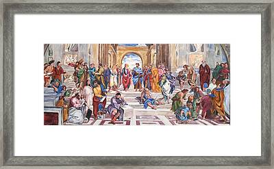 Mural After Raphael Framed Print by Becky Kim