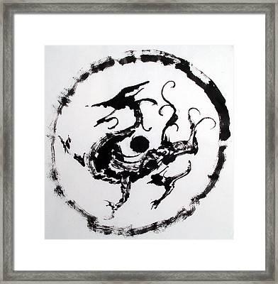 Mural Dragon Framed Print by Jinhyeok Lee