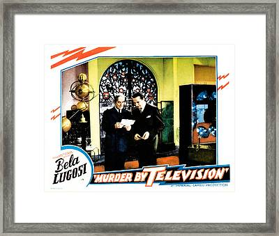 Murder By Television, Bela Lugosi Framed Print by Everett