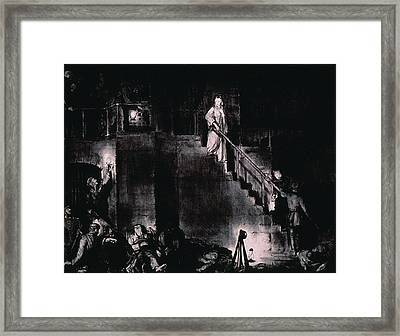 Murder Of Edith Cavell By George Framed Print by Everett
