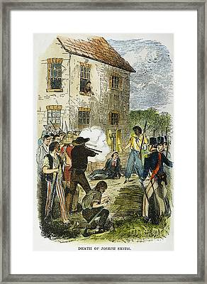 Murder Of Joseph Smith Framed Print