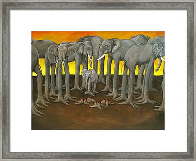 Murder The Wise Oh Ganesha Framed Print by David  Nixon