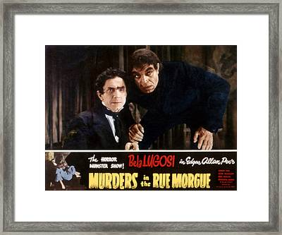 Murders In The Rue Morgue, Bela Lugosi Framed Print