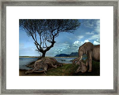Muriels Tears Framed Print by Julie L Hoddinott
