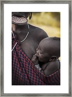 Mursi Babe Framed Print by Nichon Thorstrom
