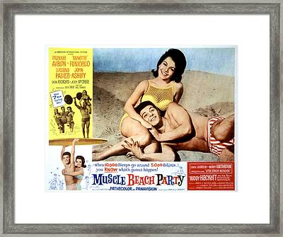 Muscle Beach Party, Poster Ad, Frankie Framed Print by Everett