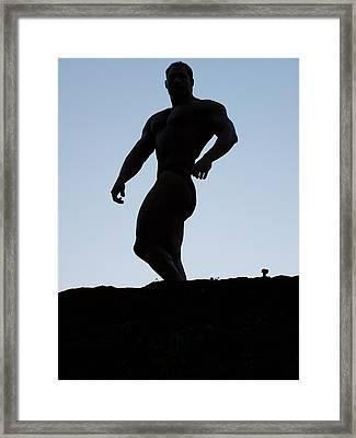 Muscleart Marius Greek Pose Framed Print by Jake Hartz
