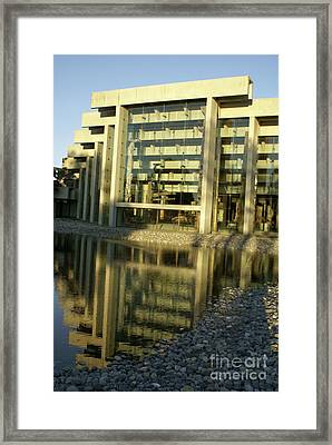 Museum Of Anthropology Reflection Vancouver Canada Framed Print by John  Mitchell