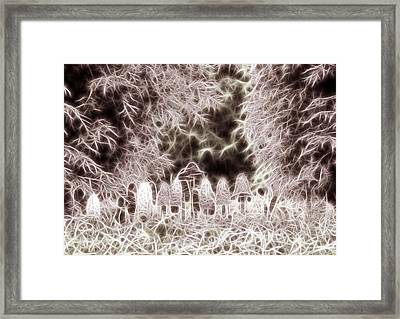Framed Print featuring the digital art Mushrooms by Odon Czintos