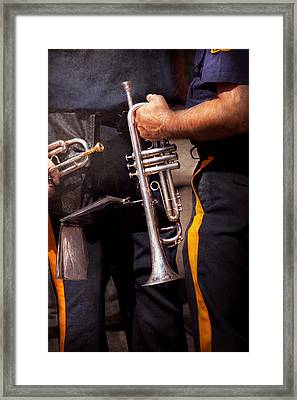 Music - Trumpet - Police Marching Band  Framed Print