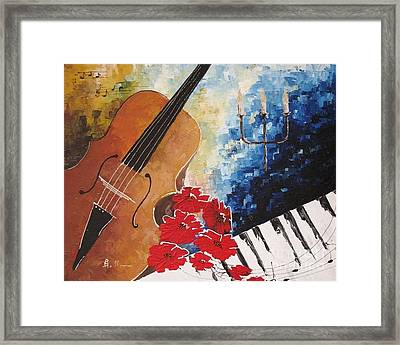 Music 2 Framed Print by AmaS Art