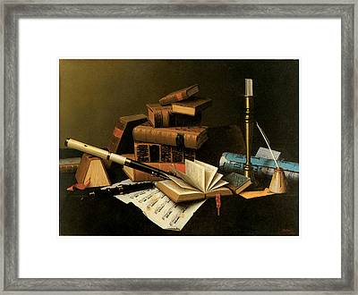 Music And Literature Framed Print