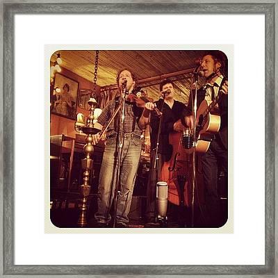 #music #band #fiddle #guitar Framed Print