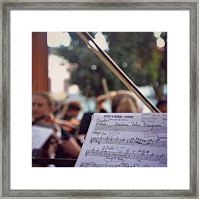 #music #bow #musicians #instruments Framed Print