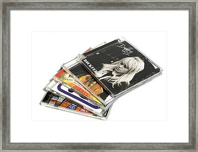 Music Cd Cases Framed Print by Johnny Greig