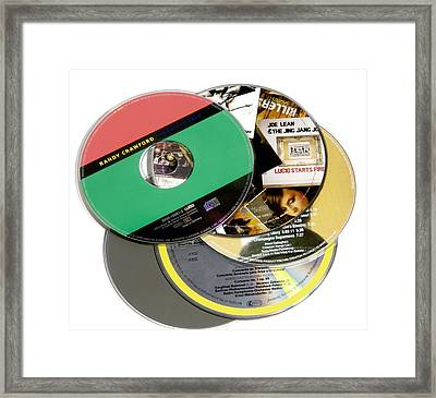 Music Cds Framed Print by Johnny Greig