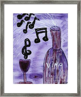 Music In My Glass Framed Print