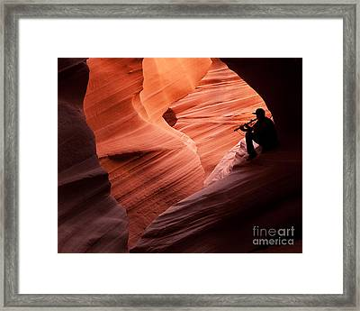 Music In The Canyon Framed Print by Bob and Nancy Kendrick