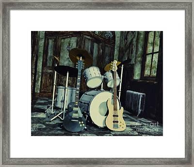 Music Is Everywhere Framed Print by Jutta Maria Pusl