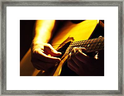 Music Is Passion Framed Print by Christopher Gaston