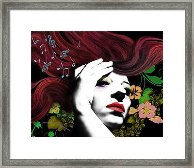 Music Muse Framed Print by Diana Shively
