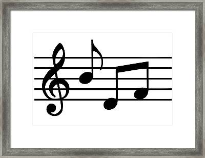 Music Notes In Black And White Framed Print by Comstock