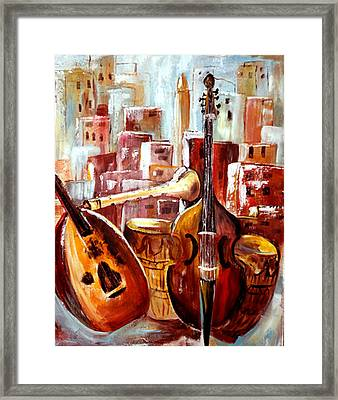 Music Of Morocco Framed Print by Patricia Rachidi