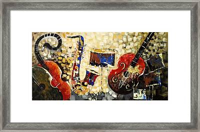 Music Ornaments 6 Framed Print by Madhav Singh