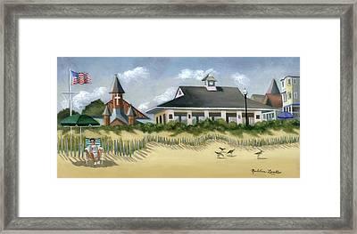 Music Pavillion In Ocean Grove  Framed Print