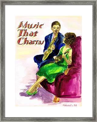 Music That Charms Framed Print by Mel Thompson